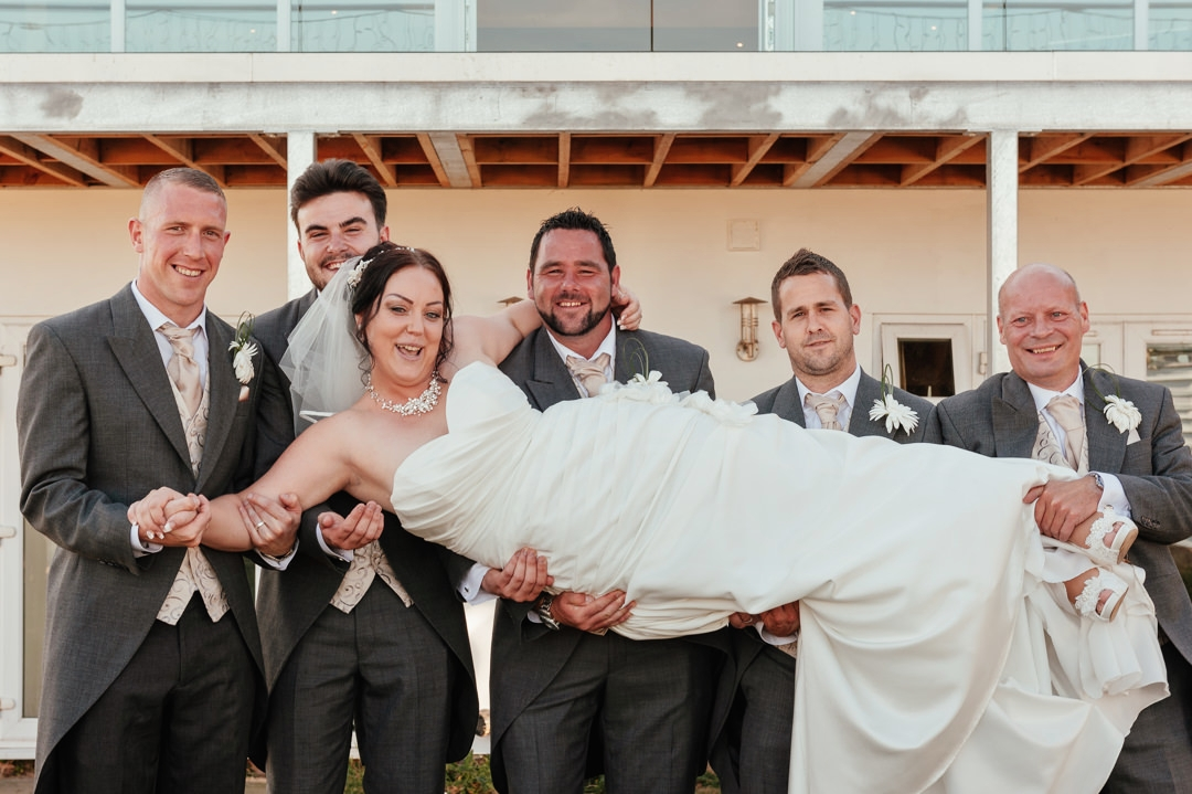 Wedding Group Photos Bride Carry