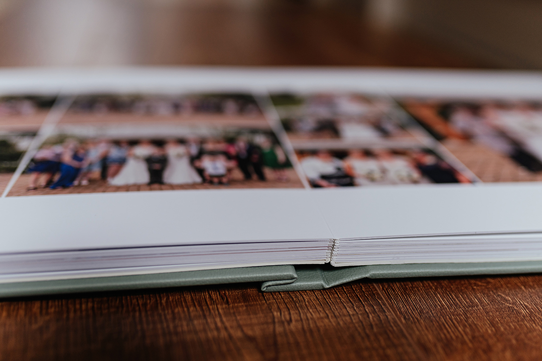 Layflat fine art album opened at pages - should i get a wedding album