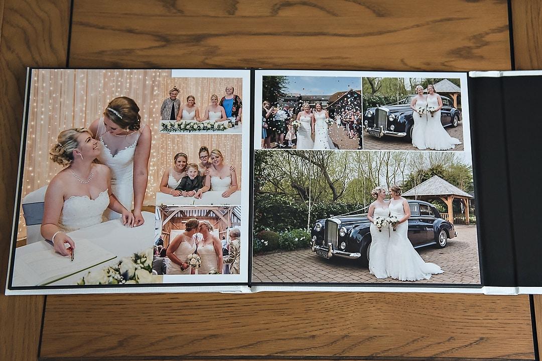 Wedding album importance - open album pages