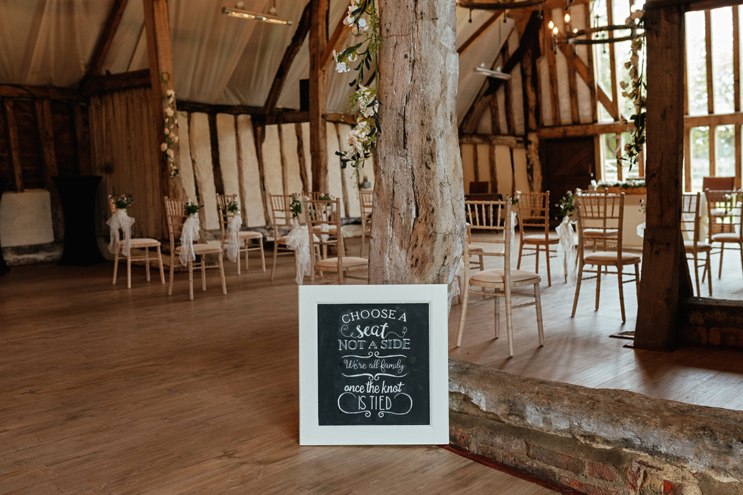 Barn Wedding Venue Sign Colville Hall