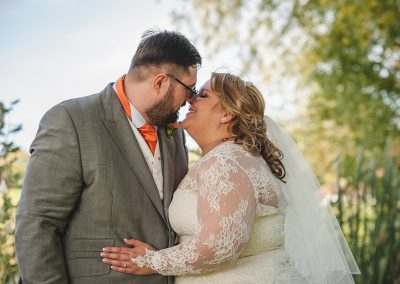 Natural Candid Outdoor Couples Portrait at Boughton Golf Club