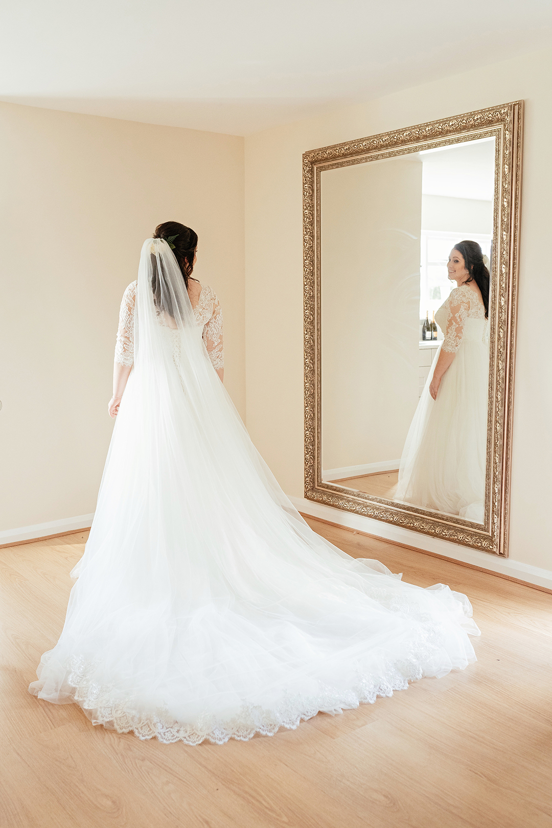 Colville Hall Bride in Mirror
