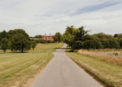 Countryside views leading up to Crondon Park