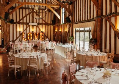 Crondon Park Wedding Reception Room Set Up Baronial Hall