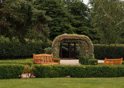 Arches in the Farmhouse Gardens at Tewin Bury Farm Hotel