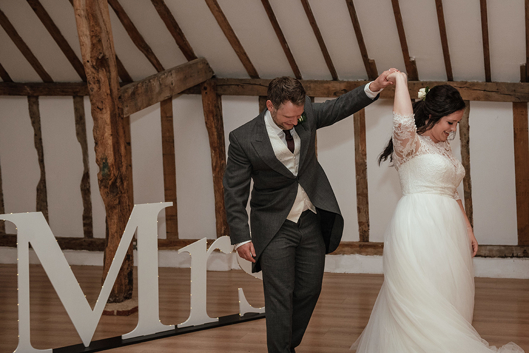 Groom Swirls Bride First Dance at Colville Hall