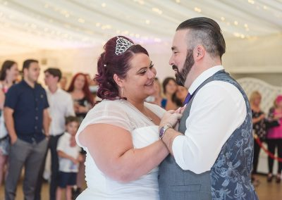 Couple share first dance at Parklands Quendon Hall