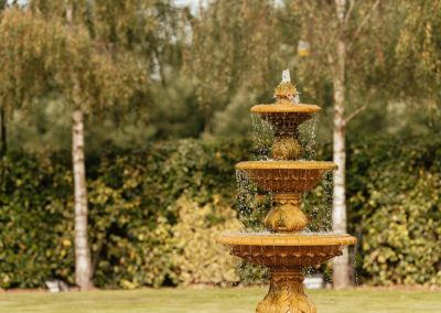 Fountain at Crondon Park Wedding Venue