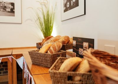 Fresh Bread in the Farm Shop at Tewin Bury Farm Hotel