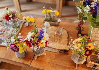 Freshly Cut Flowers in The Farm Shop at Tewin Bury Farm