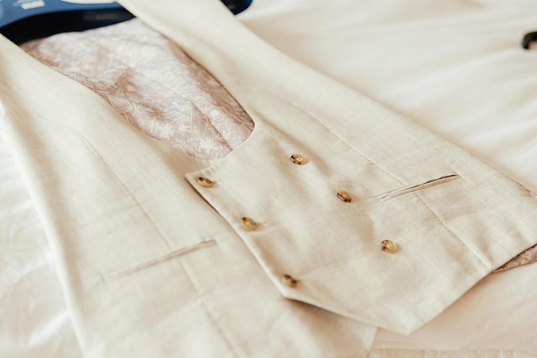 Groom's Cream Waistcoat