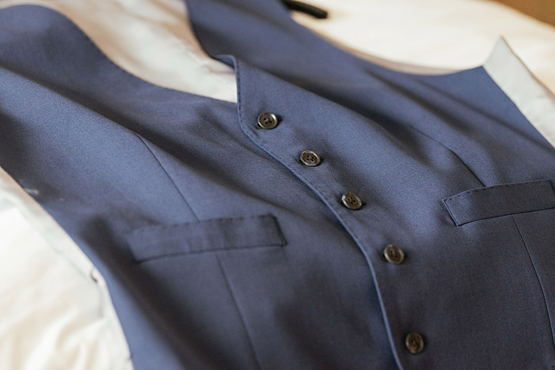 Groom's Navy Wasitcoat