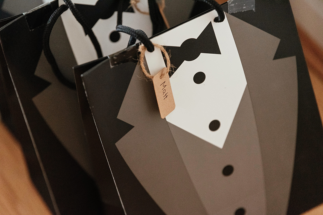 Grooms Suits Gift Bags