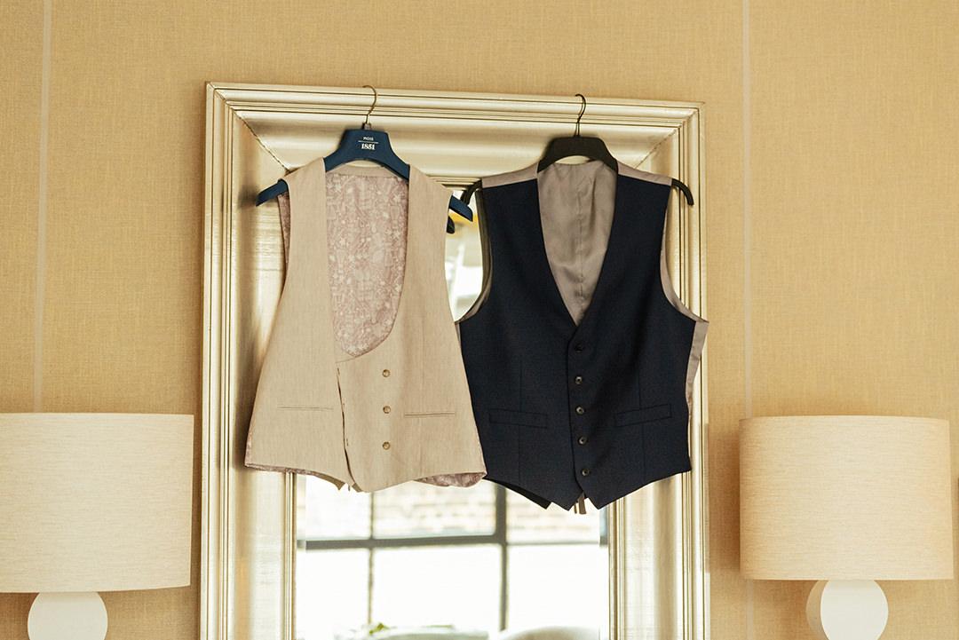 Grooms Waistcoats Hanging