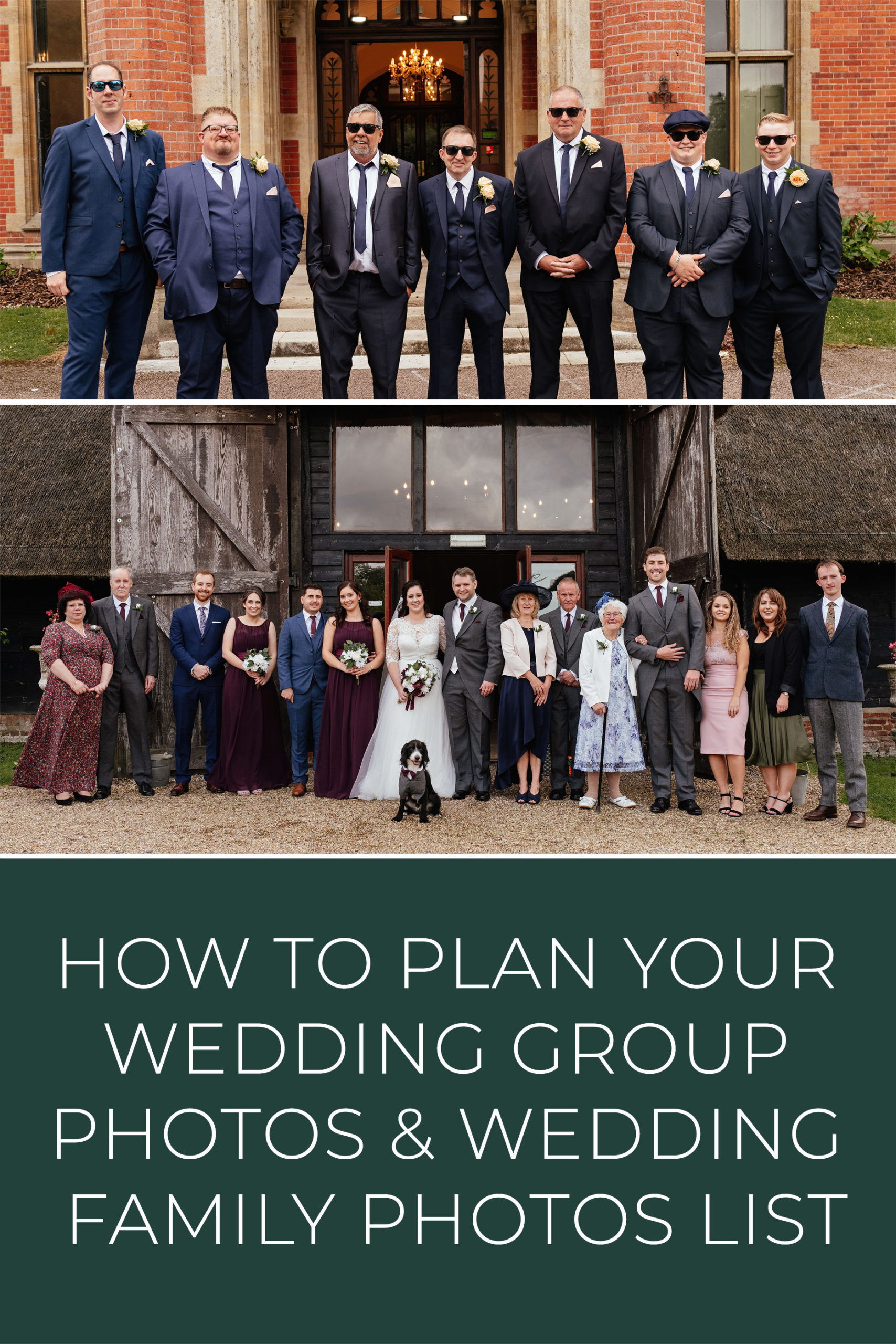 How To Plan Your Wedding Group Photos & Wedding Family Photos List