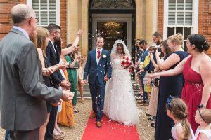 Essex Wedding Photographer Confetti Photo at Hunton Park