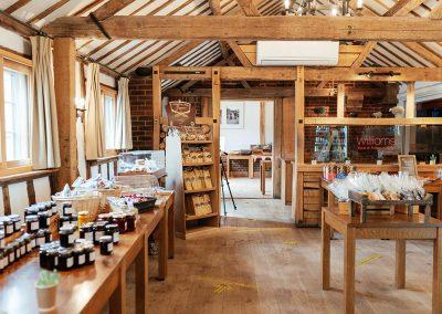 Inside The Farm Shop at Tewin Bury Farm Hotel