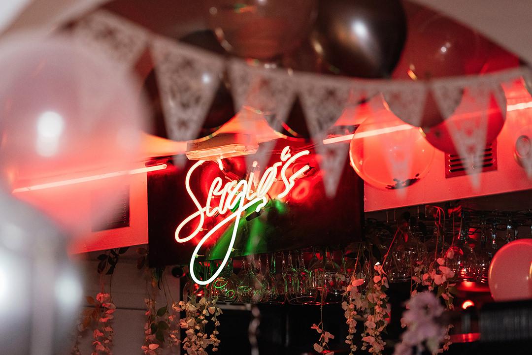 Neon Sign Sergio's Great Titchfield Street