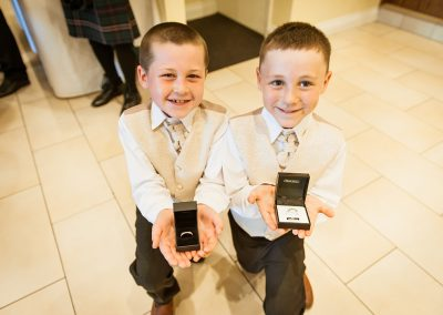 Boys Looking after the wedding rings!