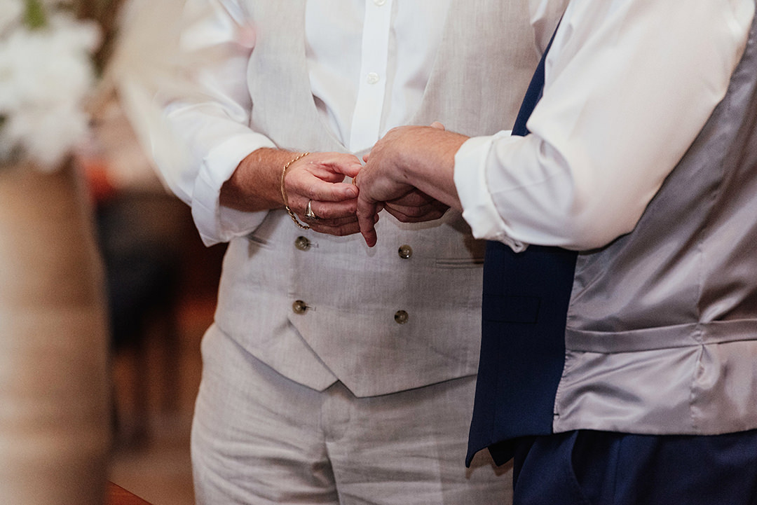 Close up of Ring Exchange at Old Marylebone Town Hall Wedding