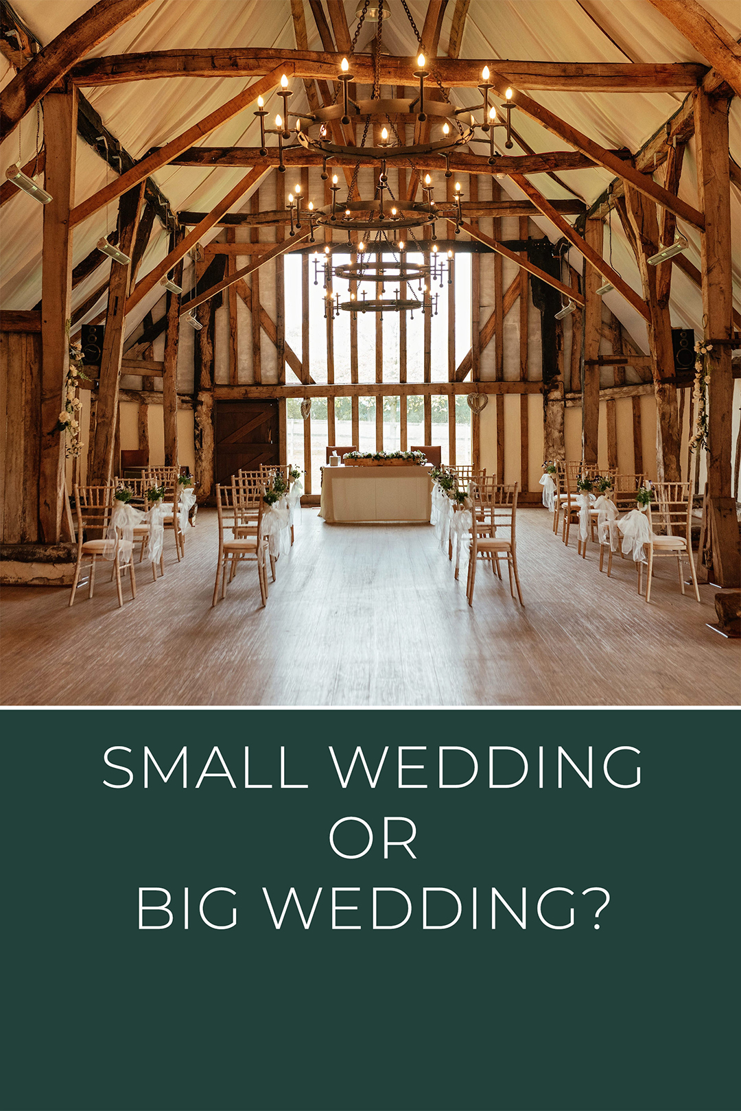 Small Wedding or Big Wedding, chair layout in big venue for small wedding