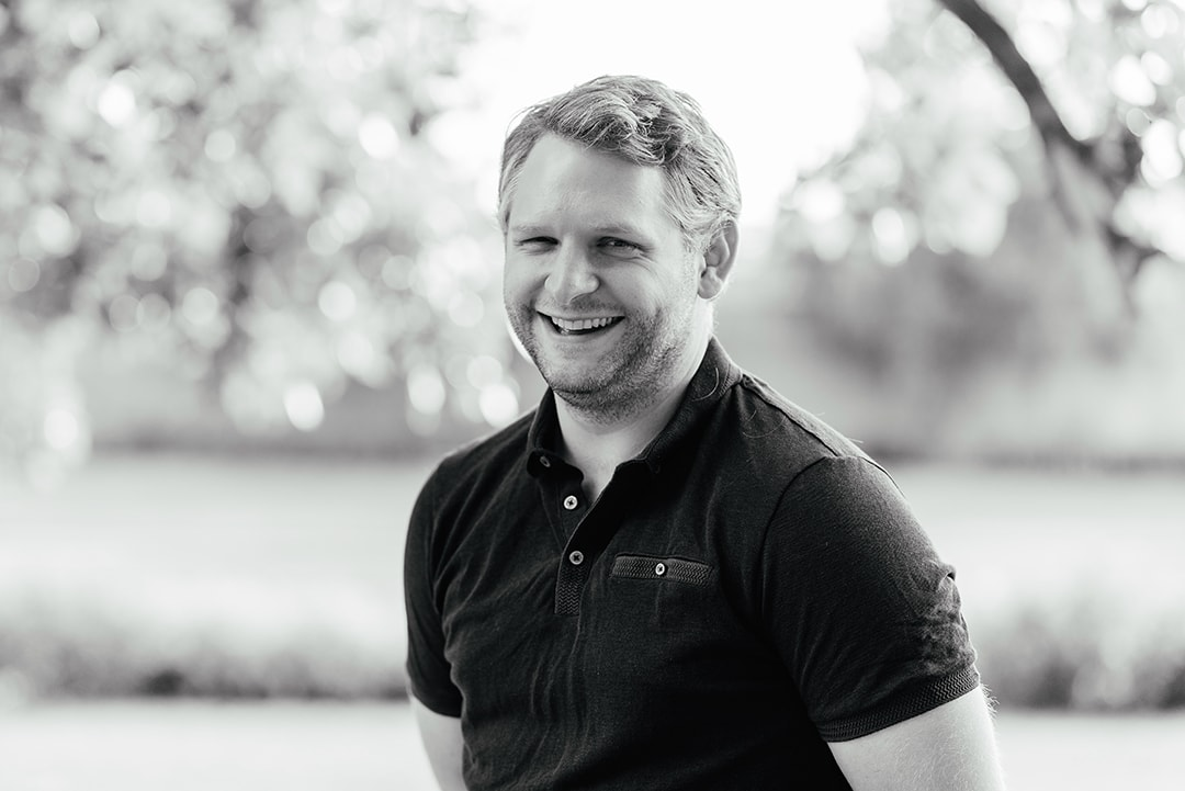 Black and White Portrait of ITU Physiotherapist, Ben