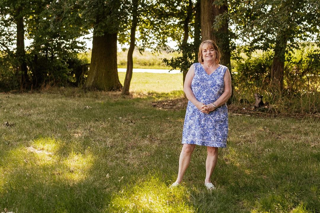 Full Length Portrait of Liz, Pharmacy Assistant