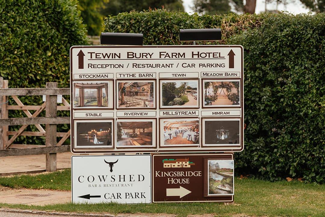 Tewin Bury Farm Hotel Sign