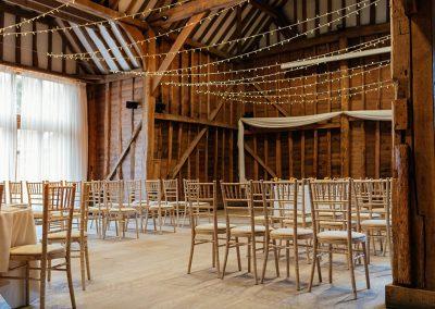 Tewin Bury Farm Wedding Ceremony in the Tythe Barn