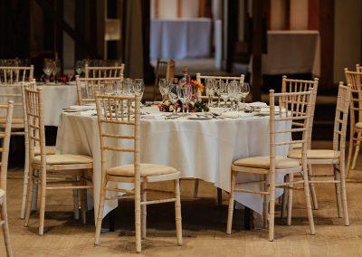 Tewin Bury Farm Wedding Reception Tables