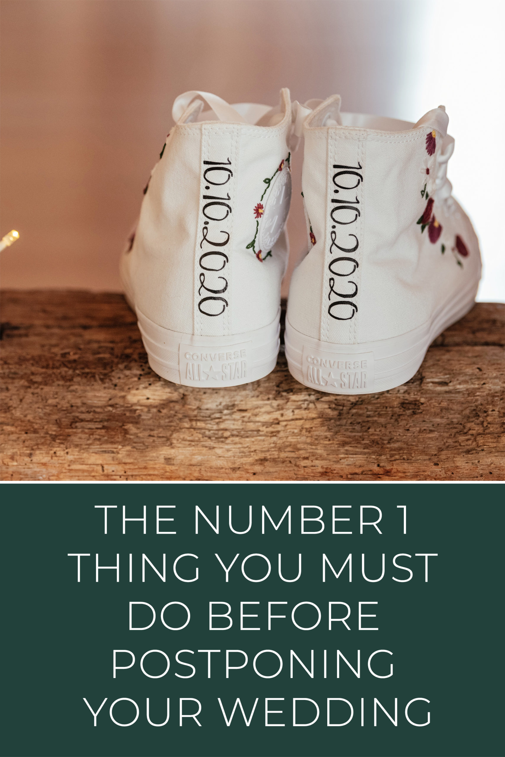 The Number 1 Thing You Must Do When Postponing Your Wedding