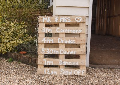 Fun Reid Rooms Day Plan on Wooden Pallet