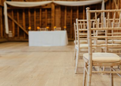 Wedding Ceremony Chairs The Tythe Barn at Tewin Bury
