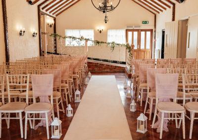 Wedding Ceremony Set Up at Crondon Park Ryder Room