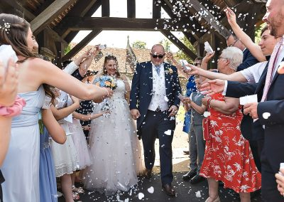 Confetti photography at St Laurence Church