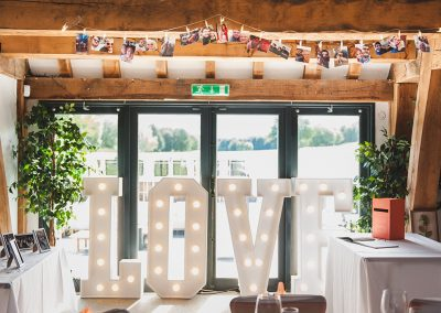 Love letters set up at Boughton Golf Club