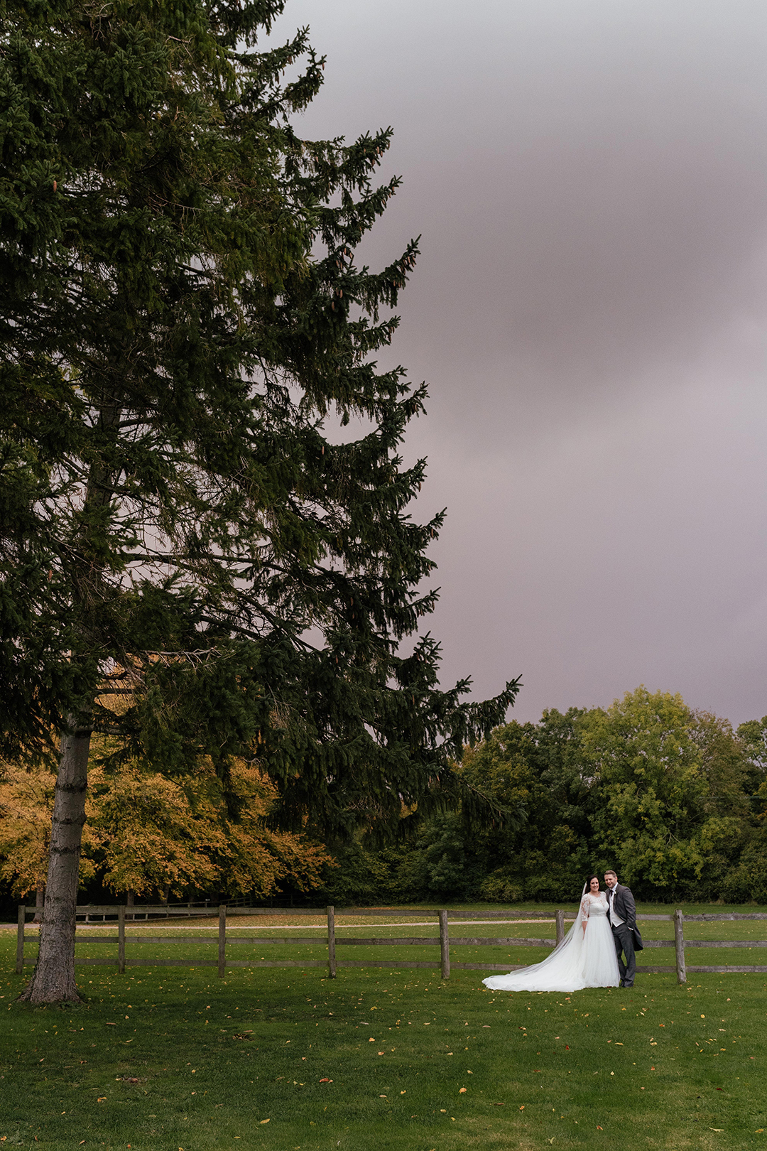 Stormy Sky Wedding Portrait Wedding Photography Colville Hall