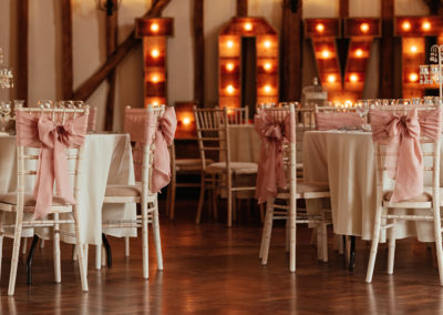 Wedding Reception Chairs in Baronial Hall