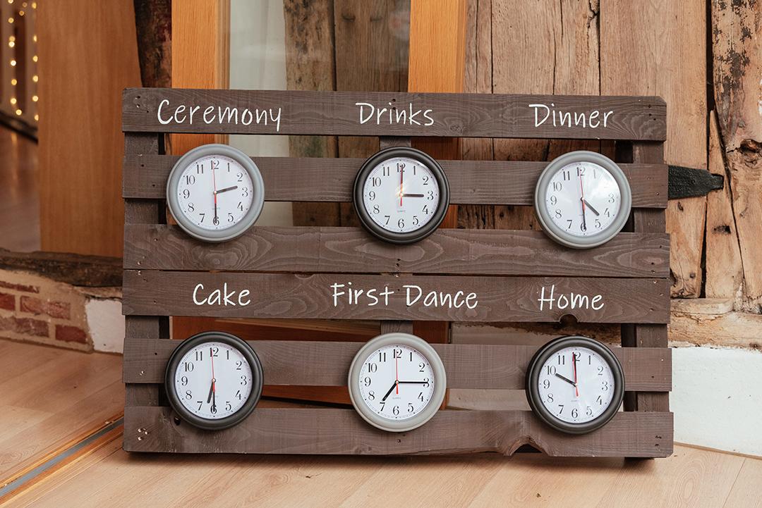 Wooden Pallet Clock Timeline Colville Hall
